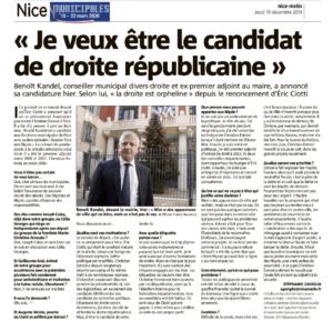Revue de presse – Elections municipales à Nice